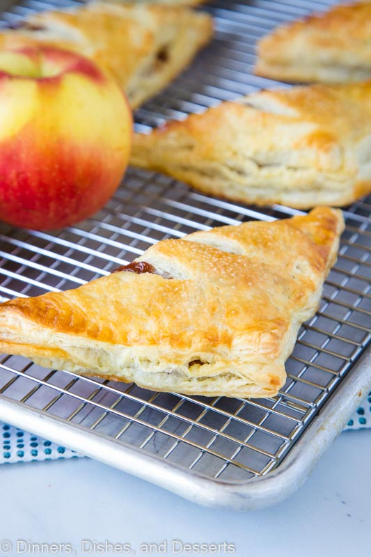 Use store bought puff pastry to make these super flaky and delicious Apple Turnovers in just minutes!