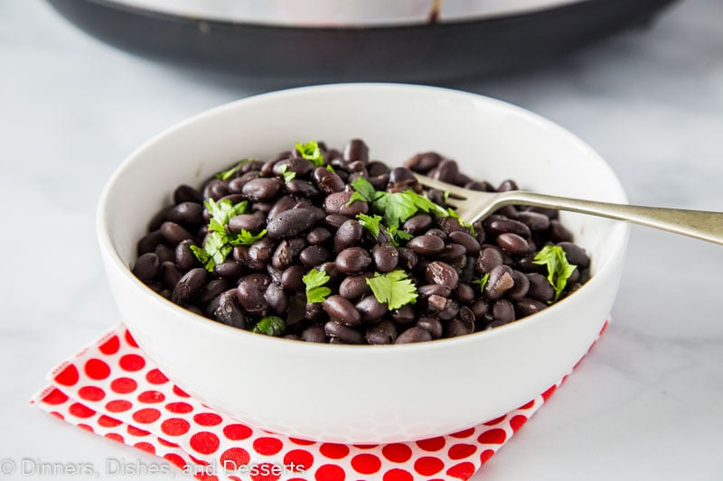 The perfect side dish - crock pot black beans