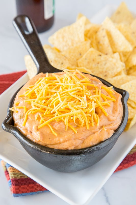Get ready for game day with this easy bean dip recipe. Ready in just minutes