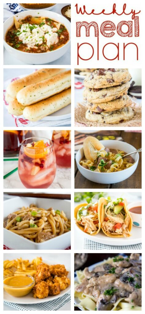 A bunch of different types of food on a plate, with Comfort and Comfort food