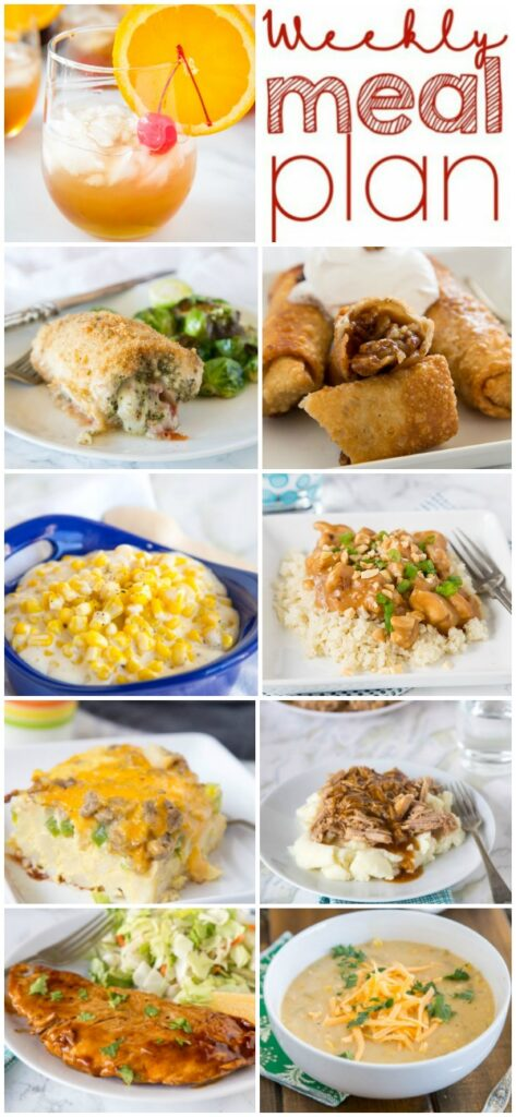 A bunch of food on a plate, with Dinner and Chicken