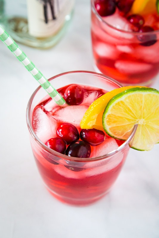 Gin and Cranberry is an unexpected combo, but so delicious!