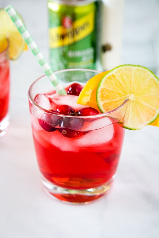 Cranberry and gin work great together in this fun cocktail