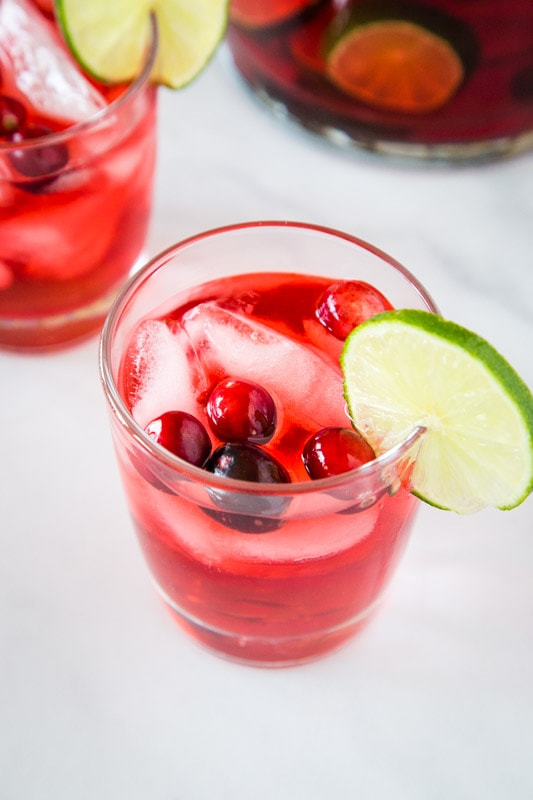 Punch is a great to serve during the holidays.  Make a big batch of this Jingle Juice today!