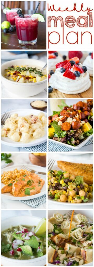 A bunch of different types of food on a plate, with Dinner and Salad