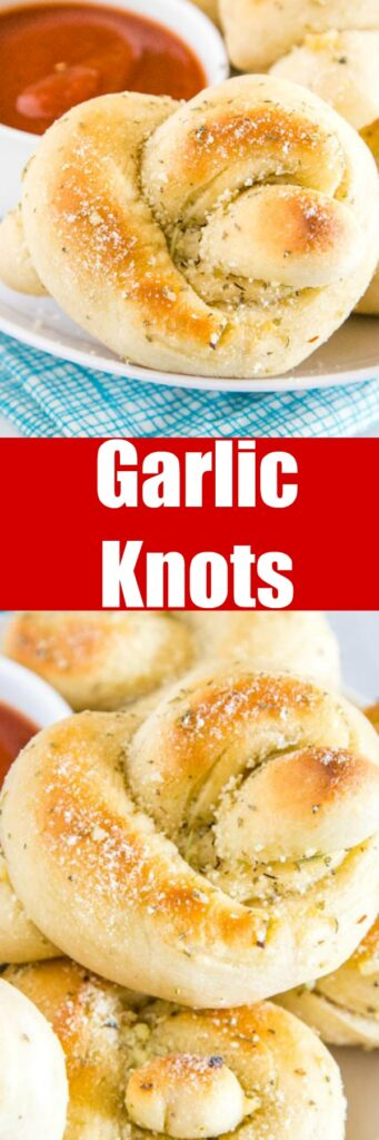 Easy Garlic Knots - homemade garlic knots are so much easier than you think to make. Super light, fluffy and smothered in a garlic butter sauce and plenty of Parmesan cheese!