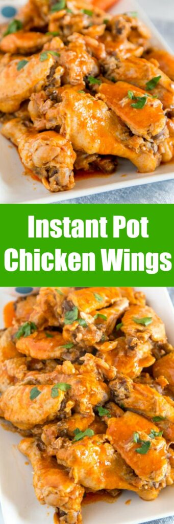 Instant Pot Chicken Wings - get ready for game day, your next party or just a fun appetizer with this easy recipe. Chicken Wings cook in the pressure cooker in no time and are absolutely delicious!