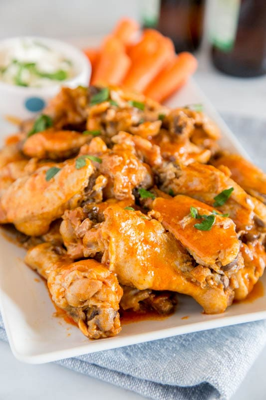Make Chicken Wings in the Instant Pot - great easy game day recipe!