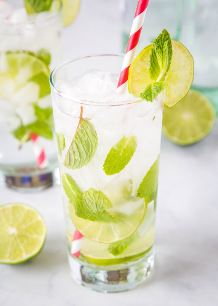 Fresh mint makes this classic mojito drink recipe extra tasty!