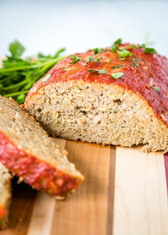 Make meatloaf that is just a little bit better for you. This uses ground turkey but is still tender, moist, and delicious!