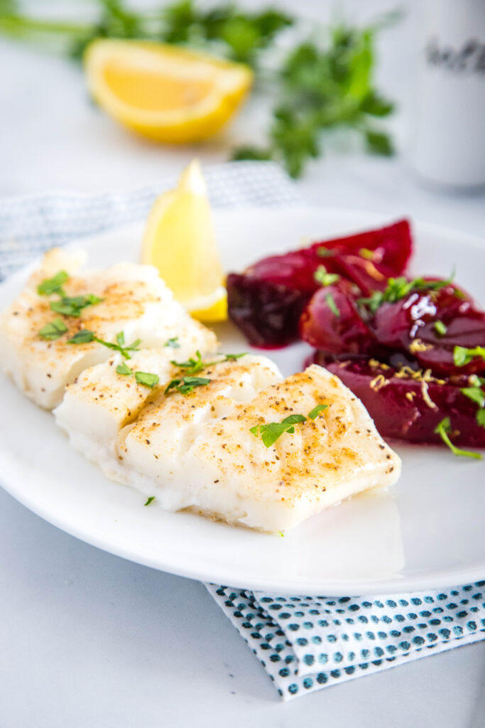 Get dinner on the table fast with baked cod fillets