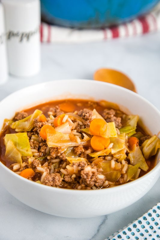 Cabbage Roll Soup is ready in no time and great for weeknight meals