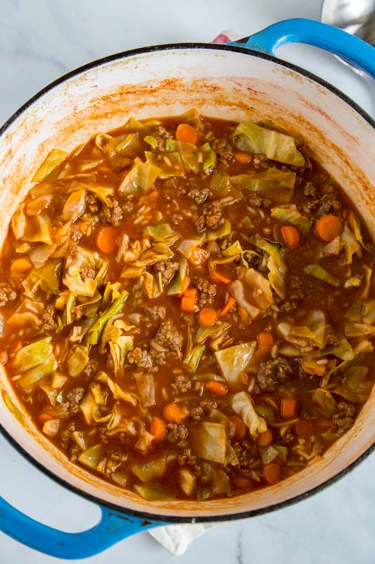 Unstuffed cabbage soup takes classic cabbage rolls and turns it into a weeknight meal your family will love