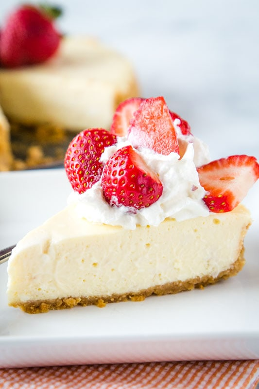 Make traditional cheesecake in the instant pot
