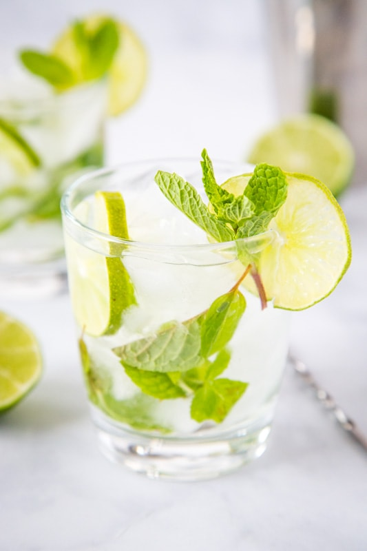 A refreshing and delicious mojito margarita