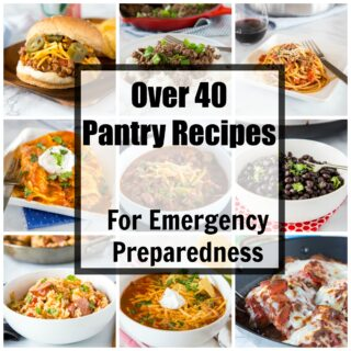Pantry Recipes - whether you are trying to use up what you have in your kitchen or prepping for an emergency here are 40 pantry recipes to get you through!