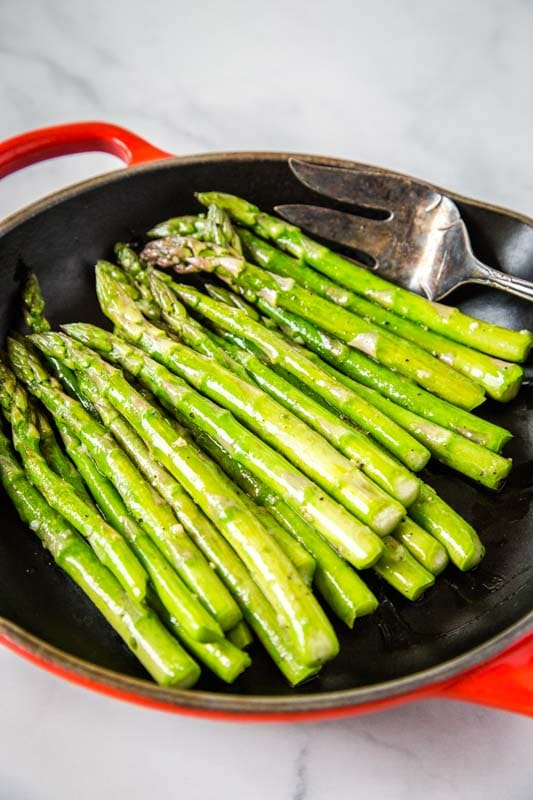 Sauteed asparagus is ready in minutes, so it makes the perfect side dish for busy weeknights.