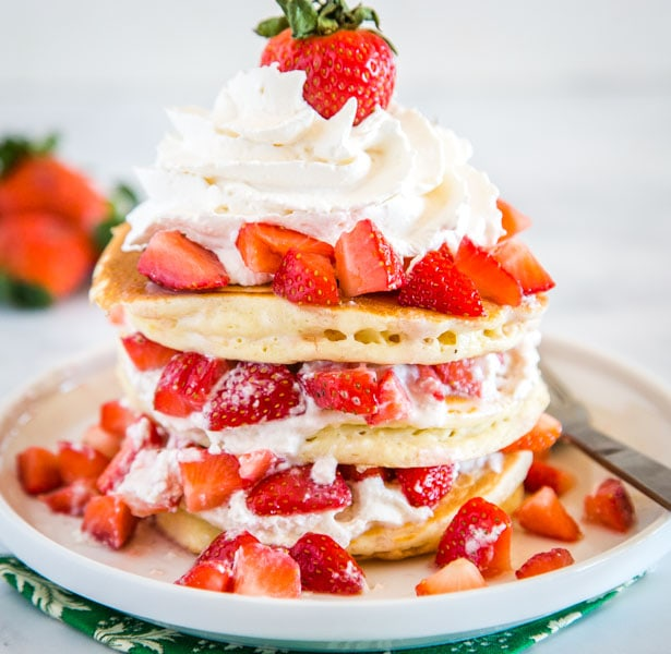 Strawberry Shortcake Pancakes Dinners Dishes Desserts