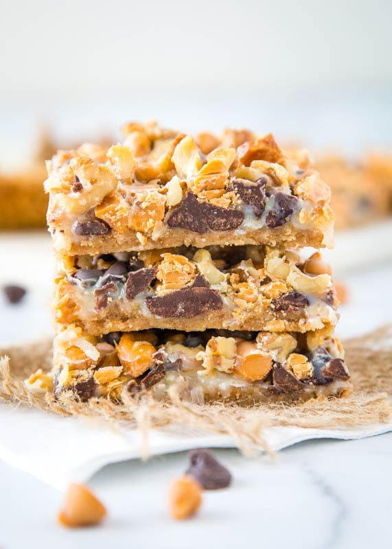 Seven layer bars stacked
