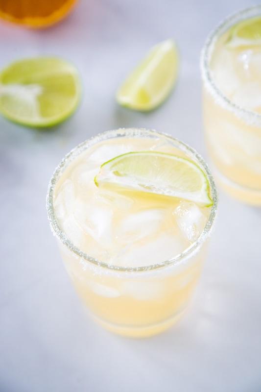 Just 4 ingredients to make this easy skinny margarita