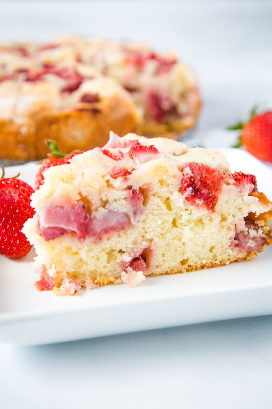 Easy Strawberry Cake that is great with just about any berries