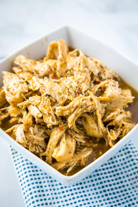 Mexican shredded Chicken made in the Instant Pot