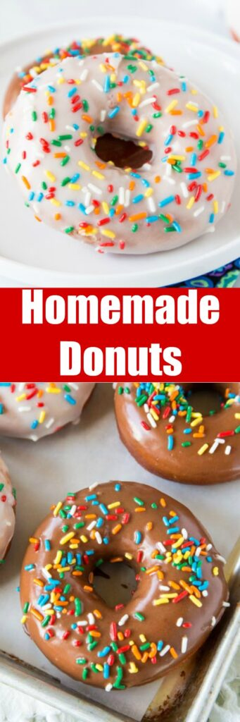Homemade Donuts - soft and fluffy yeast donuts you can make in your own kitchen! Just like going to the bakery only warm and delicious at home. Top with chocolate, vanilla, or dust in cinnamon sugar. Even fill them with cream or jelly. The options are endless!