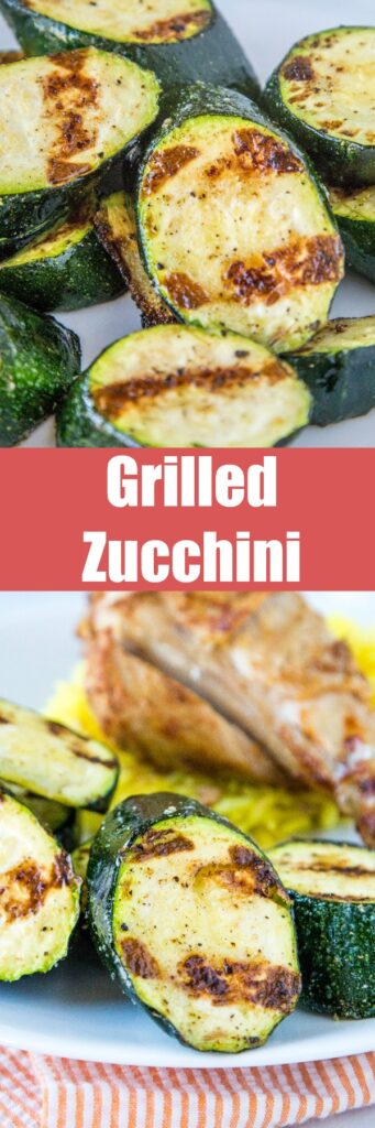 Grilled Zucchini - throw zucchini on the grill for a quick and easy side dish. It is ready in just minutes, is deliciously healthy and perfect with just about any summer meal!