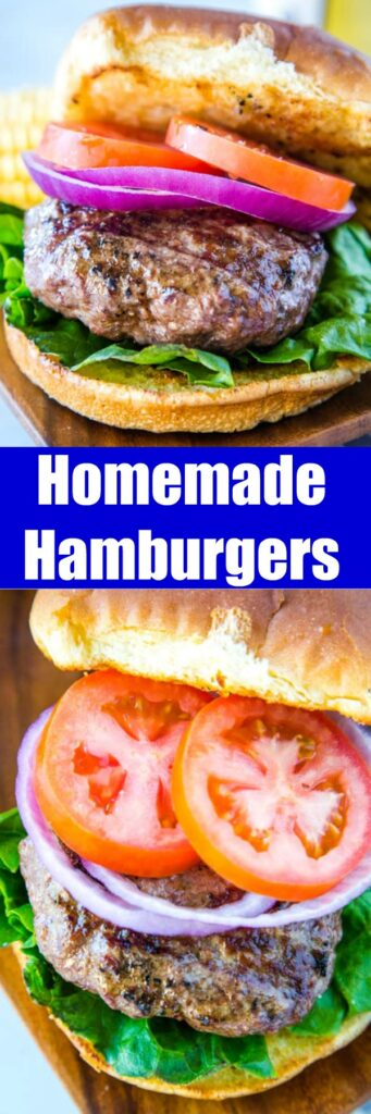 The Best Classic Hamburgers - homemade hamburgers are simple but absolutely delicious.  Just a few staple ingredients and you have a thick and juicy burger that is perfect for any summer day!