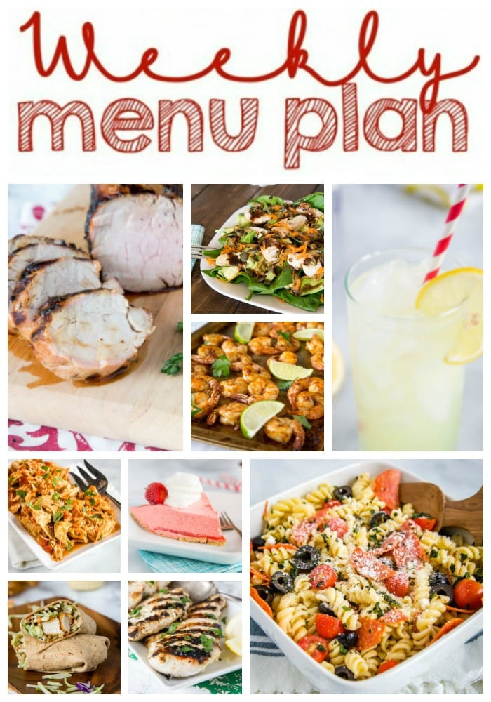 Weekly Meal Plan Week 260- Make the week easy with this delicious meal plan. 6 dinner recipes, 1 side dish, 1 dessert, and 1 fun cocktail make for a tasty week!