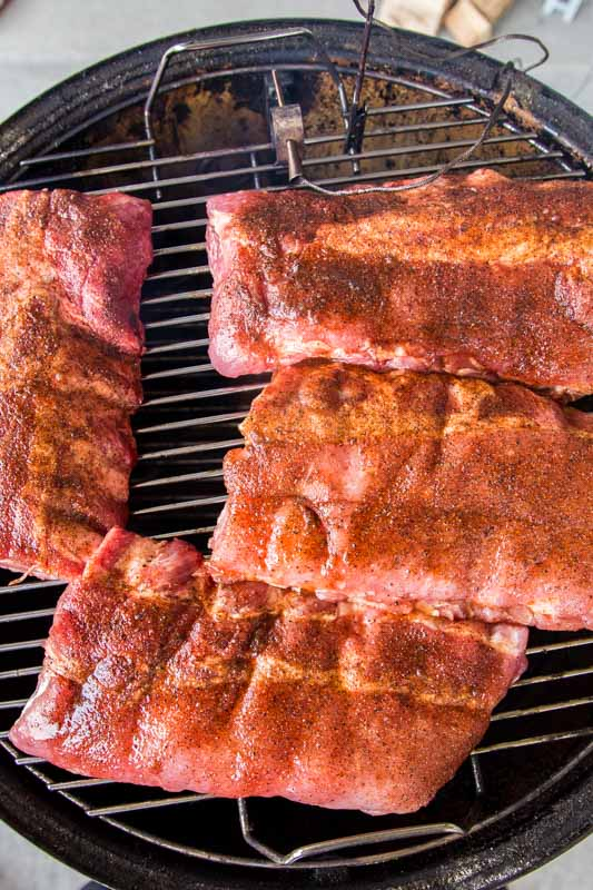 Ribs directly on the smoker