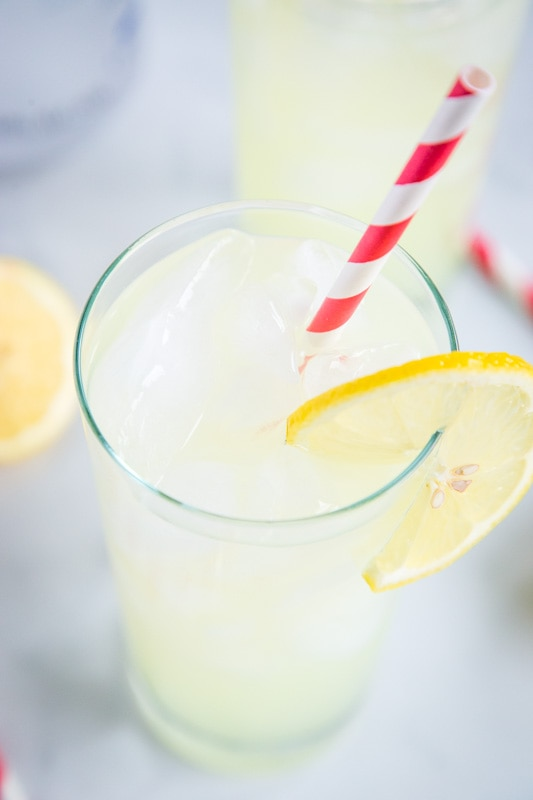Refreshing lemonade and vodka together