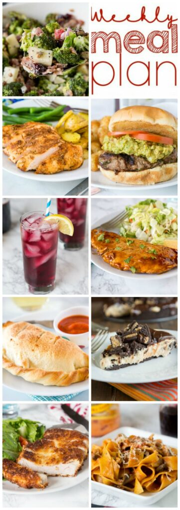 Weekly Meal Plan Week 267 - Make the week easy with this delicious meal plan. 6 dinner recipes, 1 side dish, 1 dessert, and 1 fun cocktail make for a tasty week!