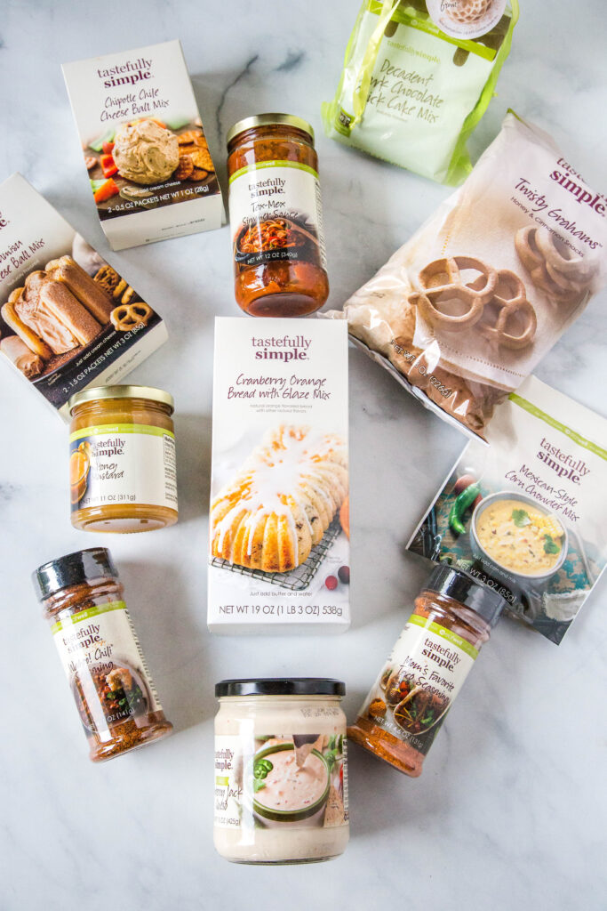 Tastefully Simple Fall Product and Meal Kit Pack