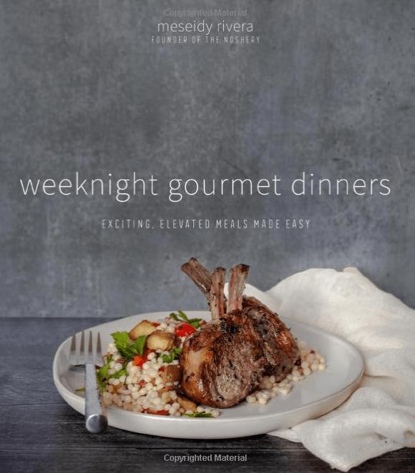weeknight gourmet dinners cookbook cover