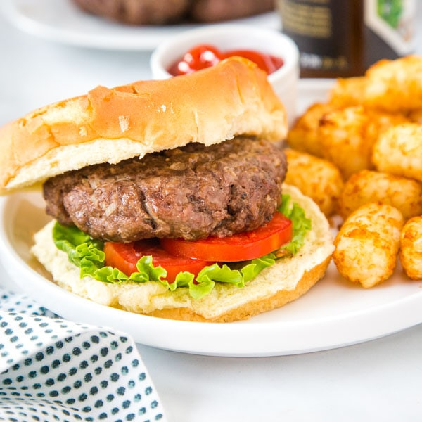 cropped photo of air fryer hamburger