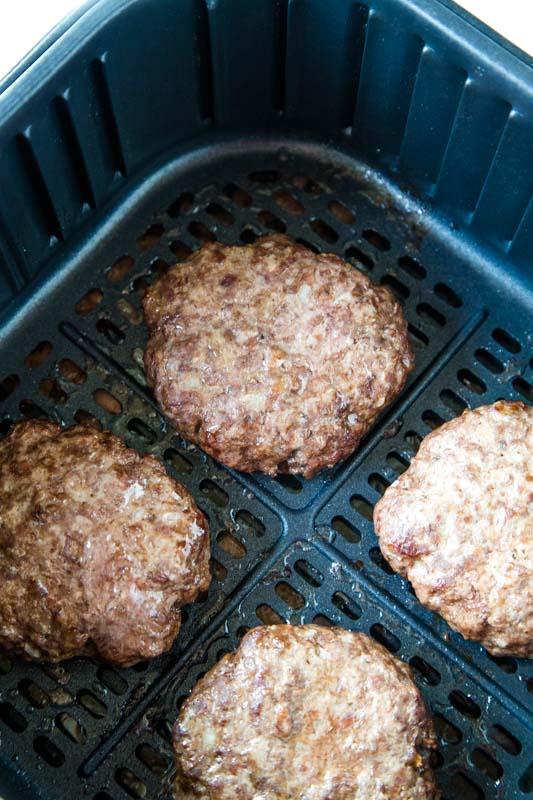 hamburger patties in the air fryer