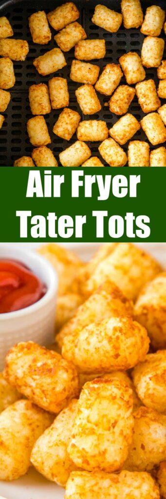 close up air fryer tater tots