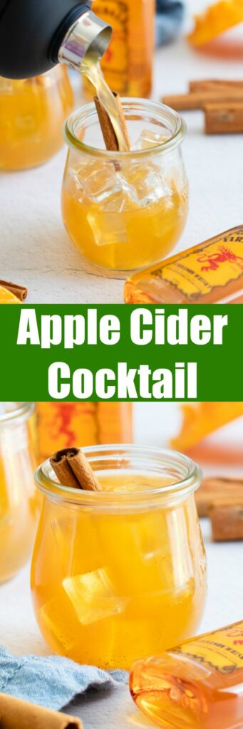 Apple Cider Cocktail - use fresh apple cider to make this smooth and delicious fall cocktail!  Just 4 ingredients and so easy to make.