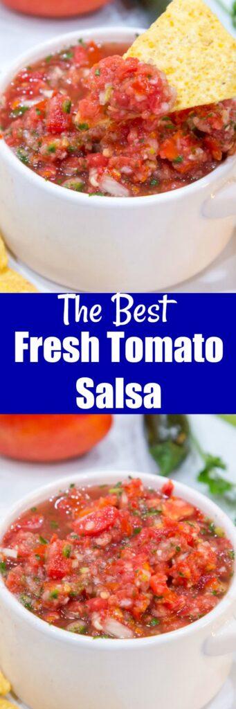 Fresh Salsa Recipe close up