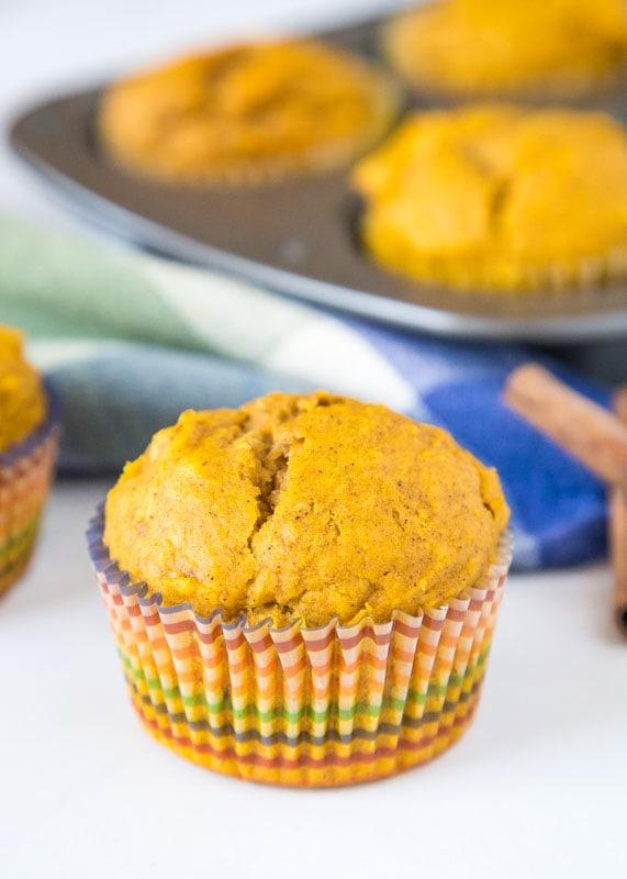 pumpkin muffin on table