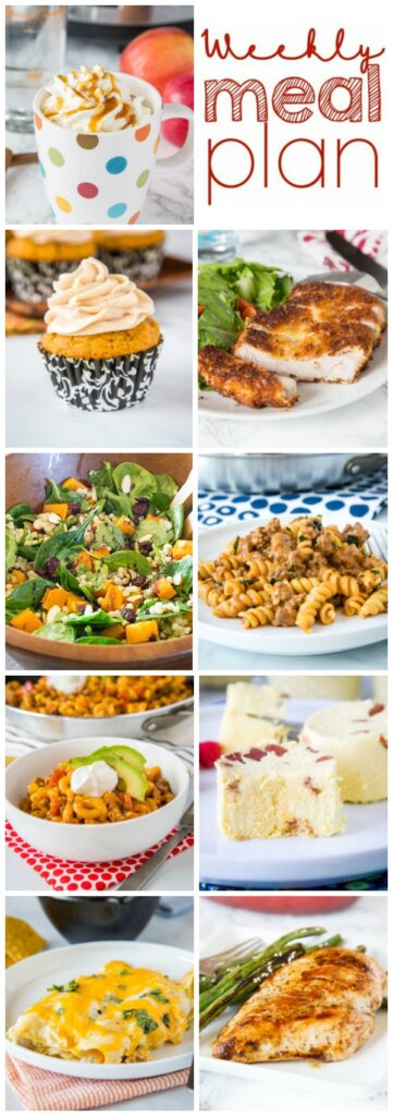 collage of meals for the week