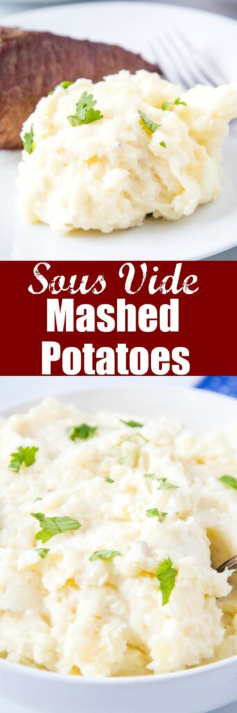 close up sous vide mashed potatoes