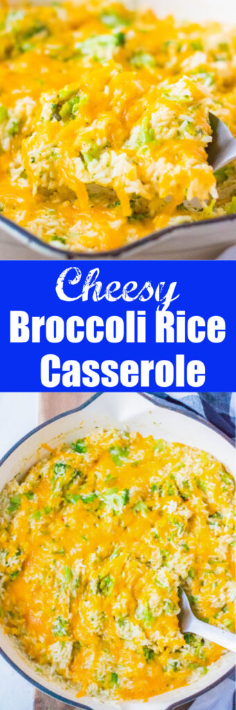 broccoli rice casserole close up