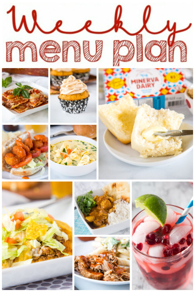 collage of weekly meal plan
