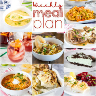 weekly dinner plan