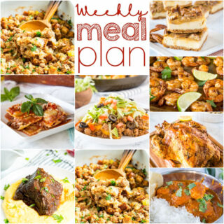 weekly meal plan dinner ideas