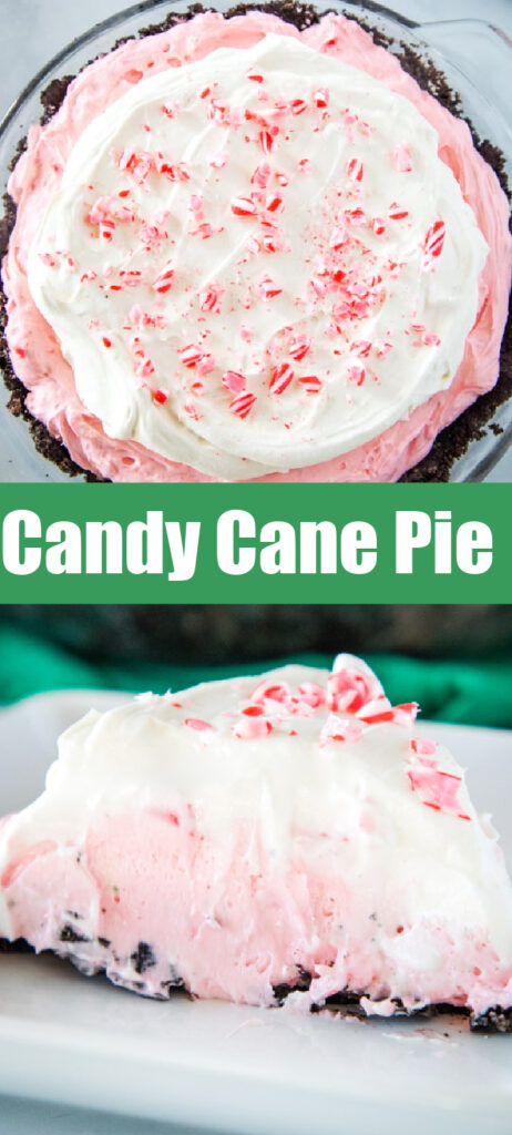 candy cane pie collage for pinterest