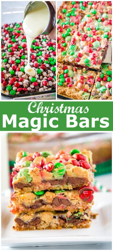 collage for pinterest of magic bars