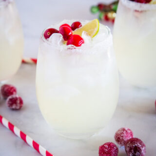 cropped white christmas margarita